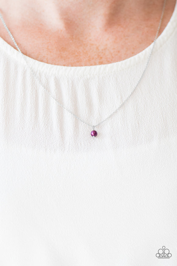 Dainty and Demure - Purple Necklace Set