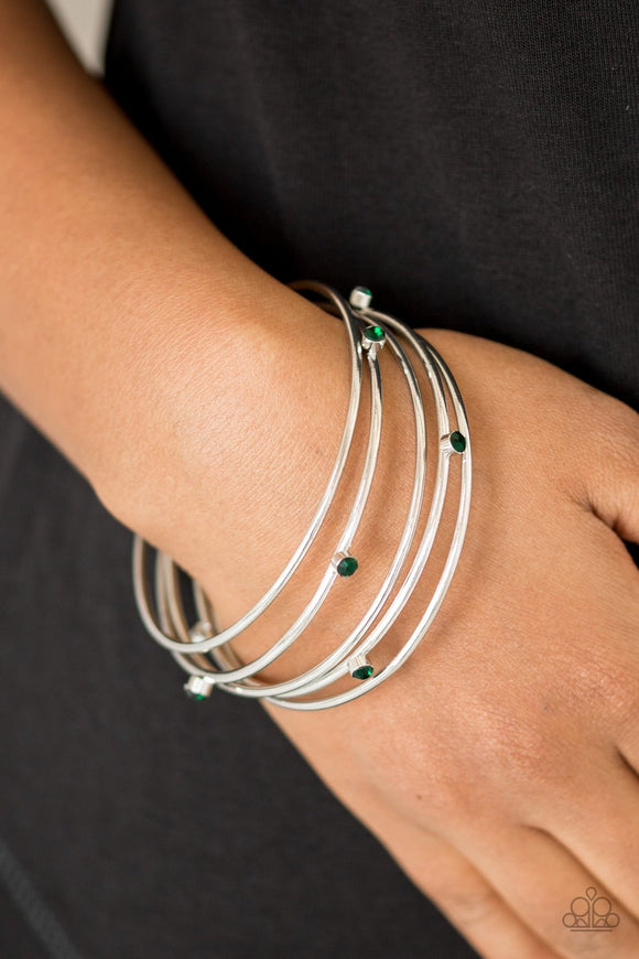 Delicate Decadence - Green Bangles / Bracelets