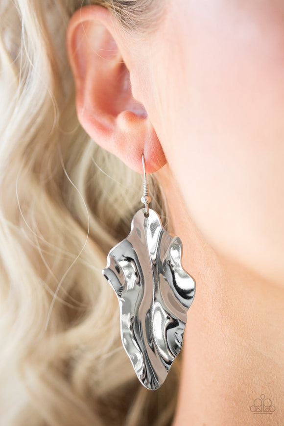Fall Into Fall - Silver Earrings