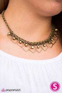 GEO Down in History Brass Necklace Set