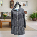Baby French Terry Hooded Jacket - Charcoal