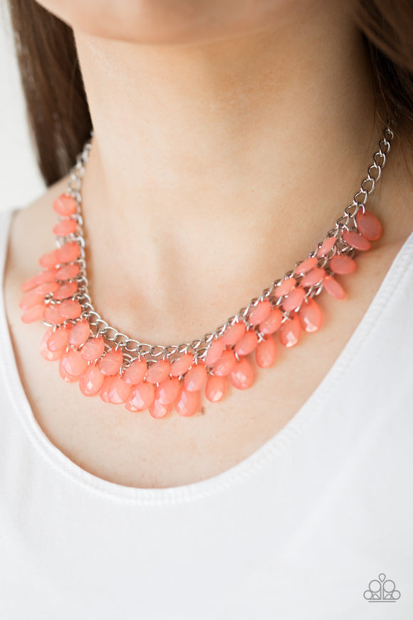 Next In SHINE - Orange Necklace Set