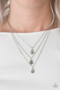 Radiant Rainfall - Green Necklace Set