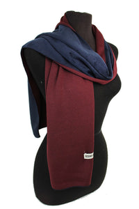 Two-sided Scarf - Maroon and Navy