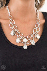 Show-Stopping Shimmer - White Necklace Set
