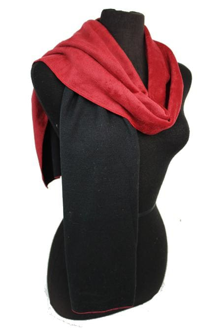 Two-sided Scarf - Black and Red