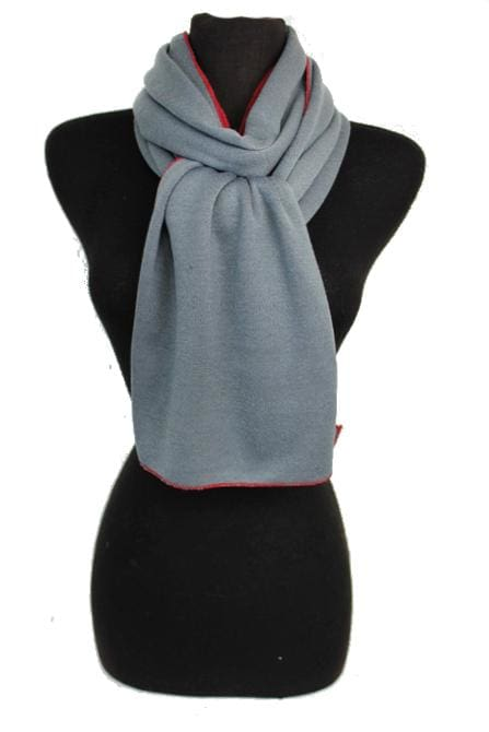 Two-sided Scarf - Gray and Burgundy