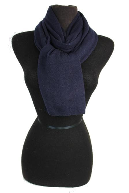 Two-sided Scarf - Navy and Navy
