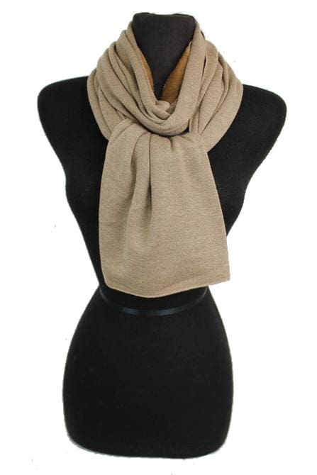 Two-sided Scarf - Tan and Beige