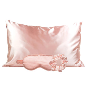 KITSCH Blush Satin Silk Sleep Set