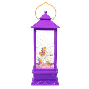 Pink Poppy Cotton Candy Unicorn Glitter Lantern