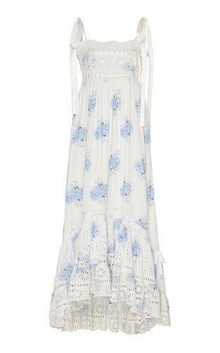 LoveShackFancy Vivi Dress in Morning Mist