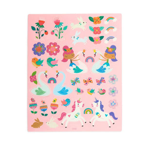 ooly Play Again! Reusable Sticker Scenes: Princess Garden