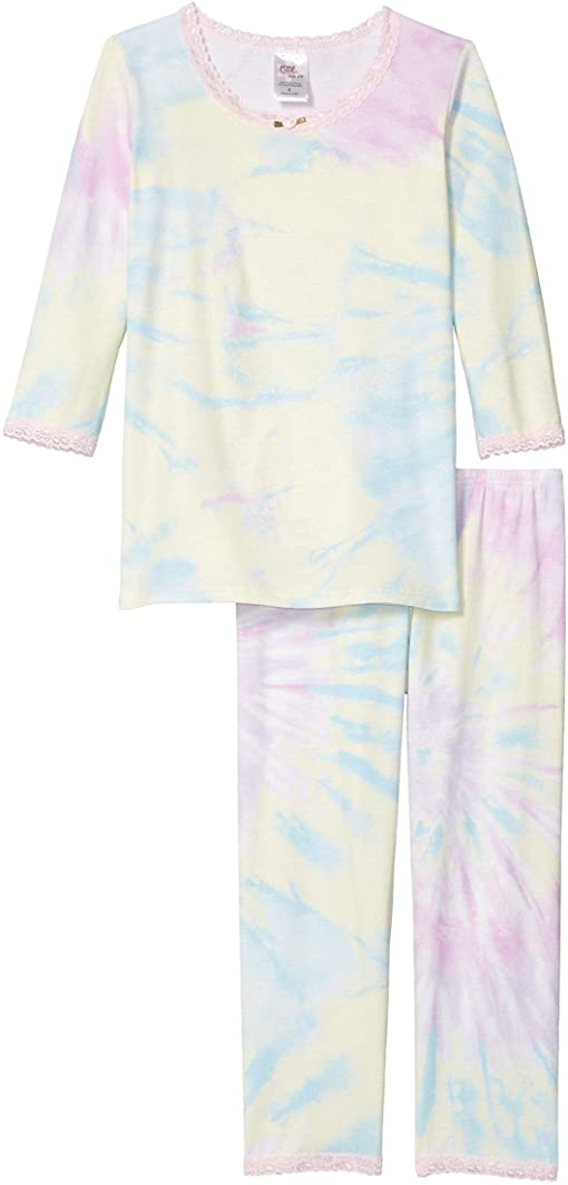 esme Tie Dye Blue 3/4 Toddler Pajama Set