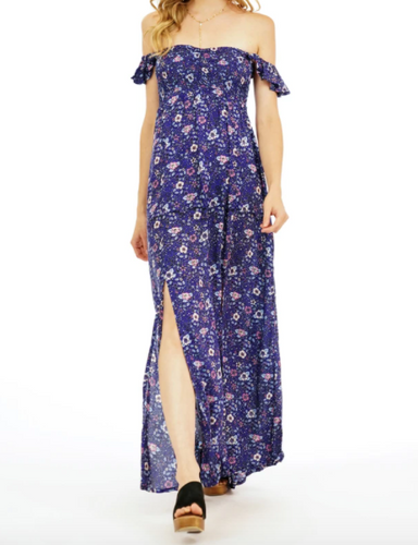 Tiare Hawaii Hollie Long Midnight Floral Dress (1 Size)