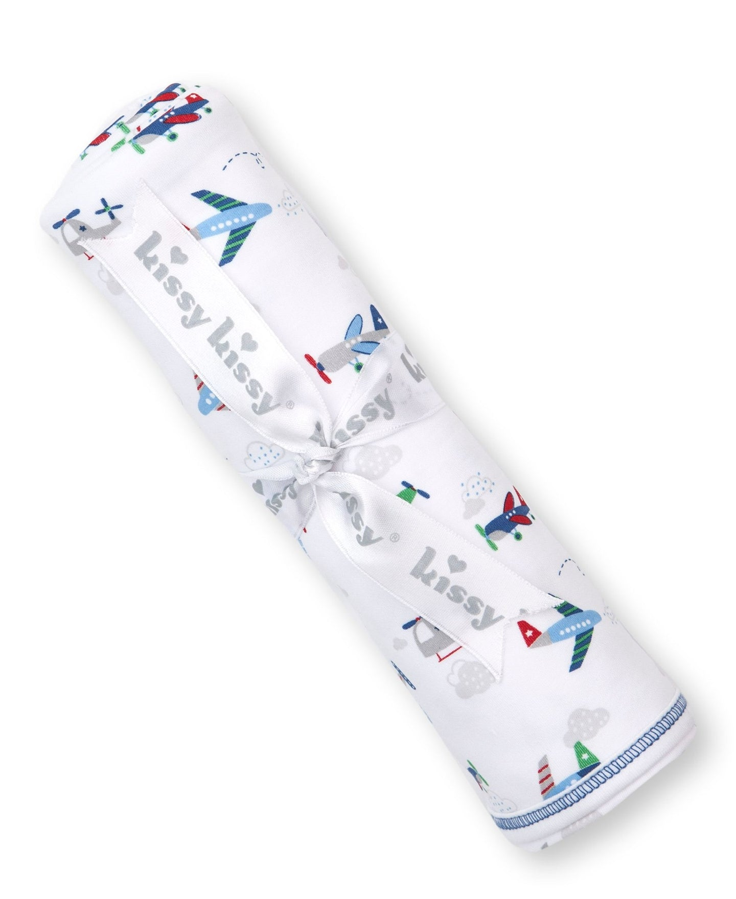 kissy kissy Airplanes Swaddle Blanket