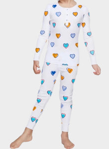 Roller Rabbit Big Hearts Multi Toddler Pajama Set