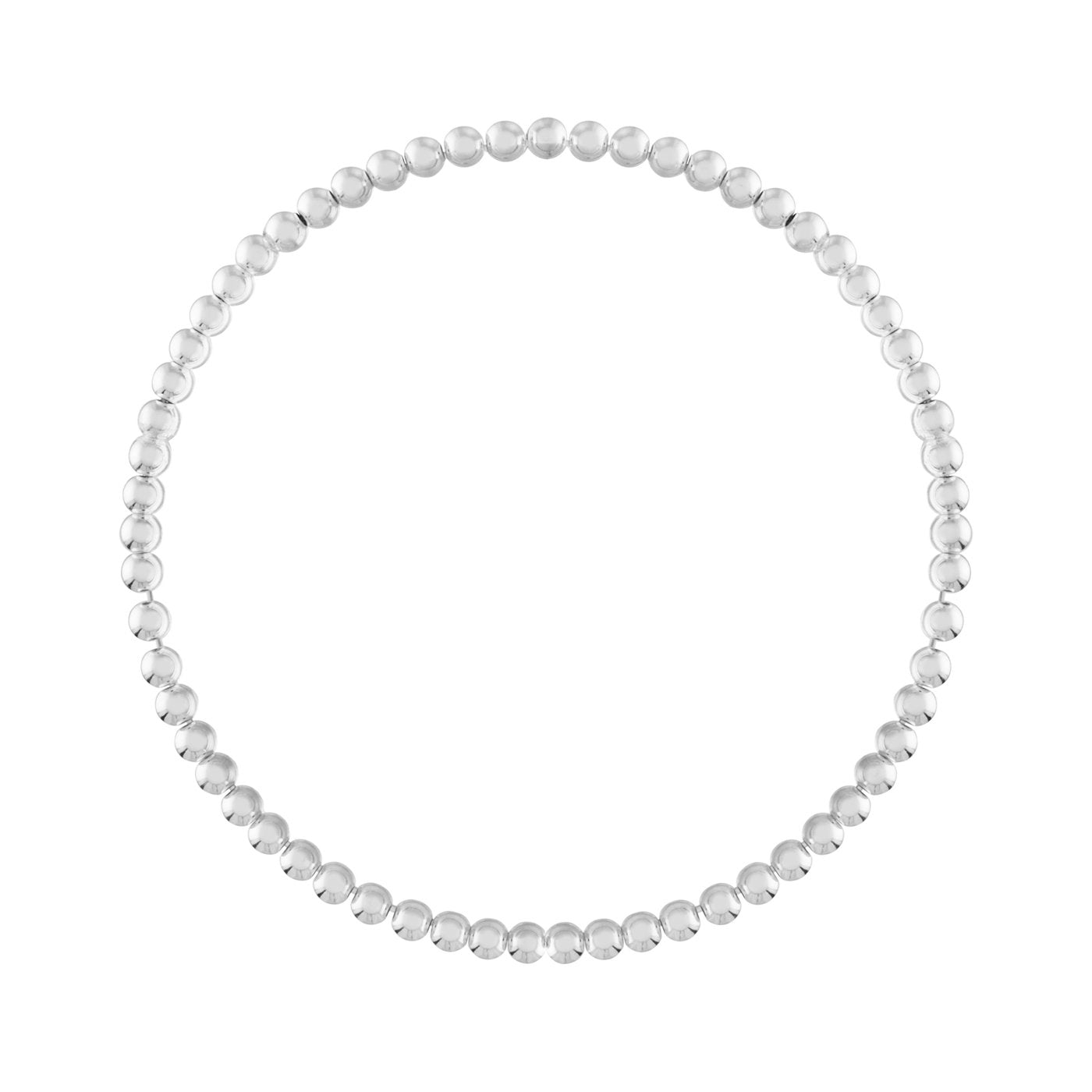 Alexa Leigh 4mm Silver Ball Bracelet