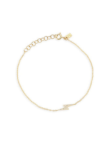 EF Collection Diamond Bolt Yellow Gold Bracelet