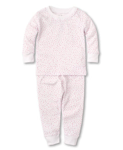 kissy kissy White/Pink Hearts Toddler Pajama Set