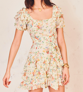 LoveShackFancy Kimbra Dress in Floral Confetti