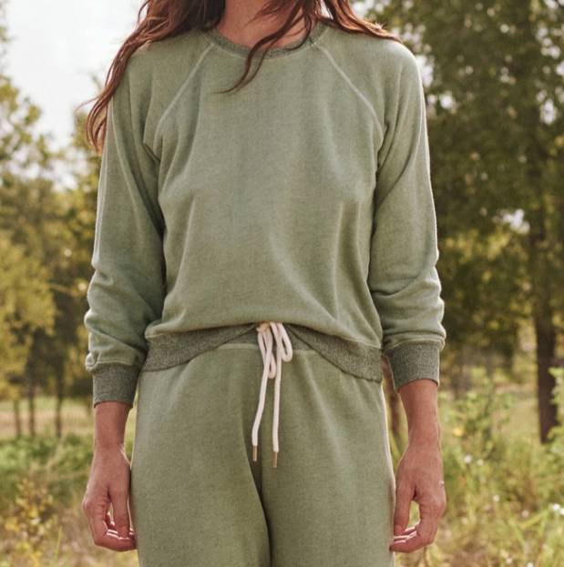 The GREAT Shrunken Sea Green Sweatshirt