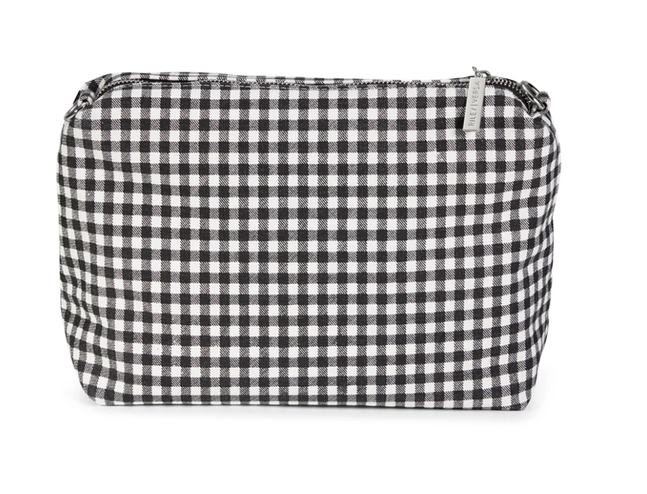 Riley Versa Black & White Gingham Pouch
