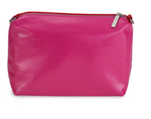 Riley Versa Two Tone Pink & Red Leather Pouch