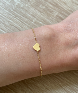 EF Collection Yellow Gold Heart Bracelet