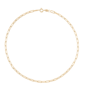 "Alexa Leigh Gold Link Chain Necklace (18"")"