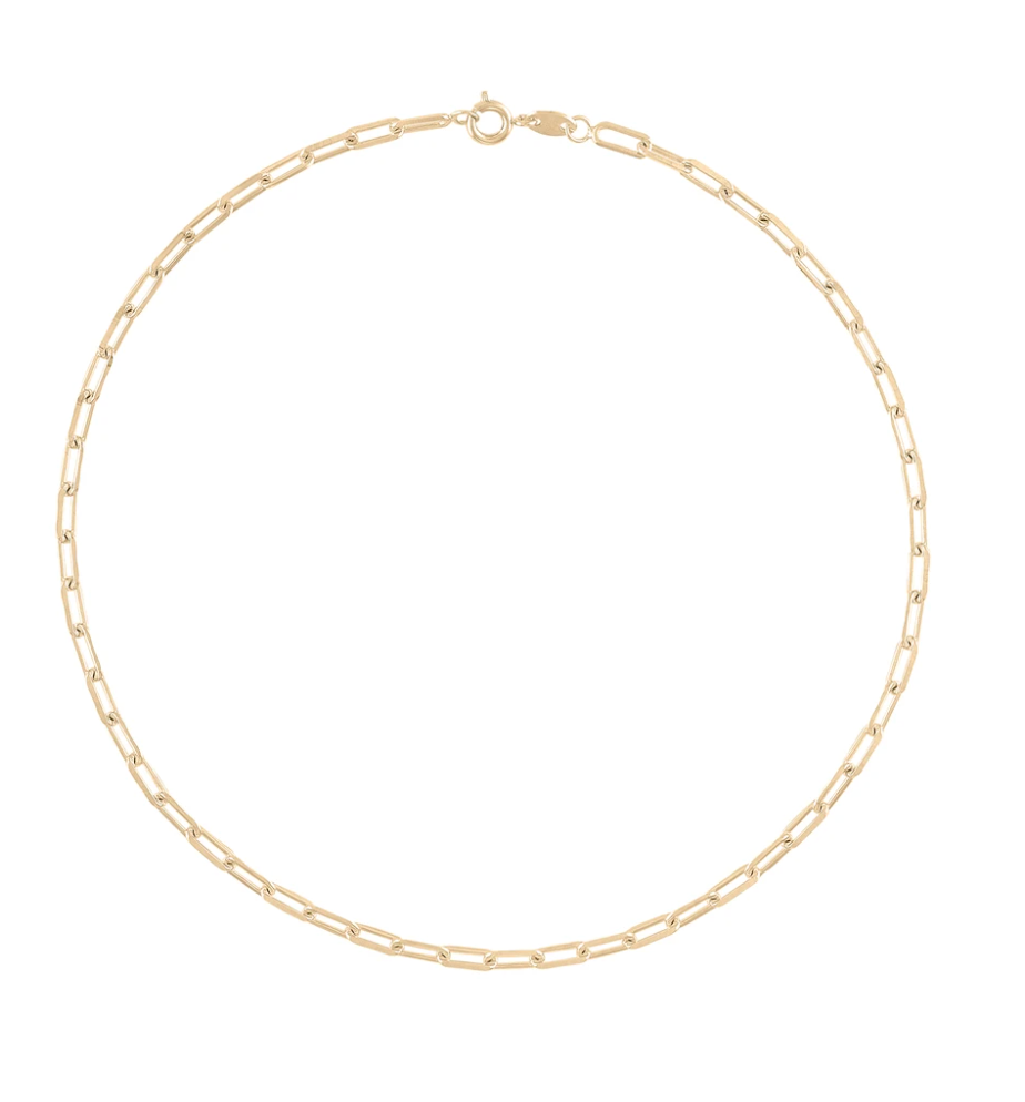 Alexa Leigh Gold Link Chain Necklace (18