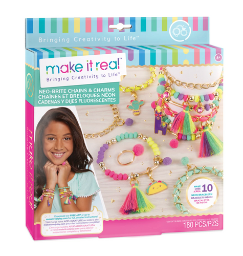 Make It Real Neon Bright Chains & Charms Bracelet Kit