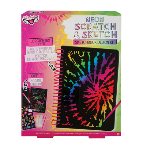 Fashion Angels Neon Scratch & Sketch Sketchbook Design Kit