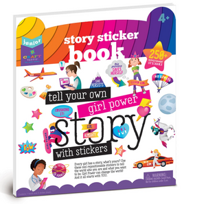Craft-tastic Jr Story Sticker Book - Girl Power