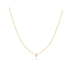 EF Collection Single Diamond Bezel Multi Faceted Yellow Gold Necklace