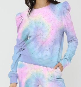 Generation Love Pastel Crystal Tie Dye Sweatshirt