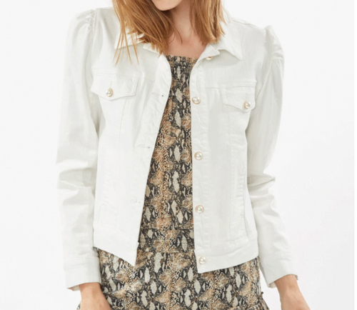 Generation Love Tallulah White Denim Jacket