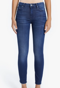 Mother Denim High Waisted Looker Ankle Fray in Tongue and Chic