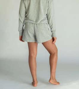 perfectwhitetee The Layla Heather Grey Sweat Short