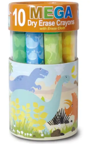 The Piggy Story Dinosaur World Dry Erase Mega Crayons