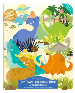 The Piggy Story Dinosaur World Dry Erase Coloring Book