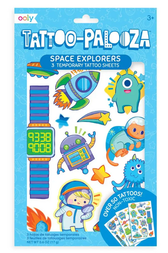 ooly Tattoo-Palooza Temporary Tattoos: Space Explorers