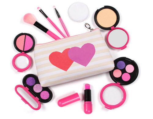 AMOSTING Pretend Cosmetic Set & Make Up Bag for Kids