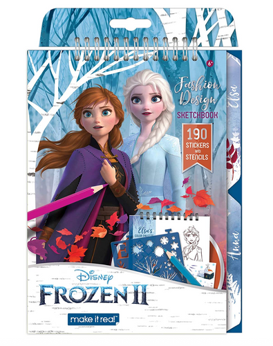 Make It Real Disney Frozen 2 Fashion Design Sketch Book.