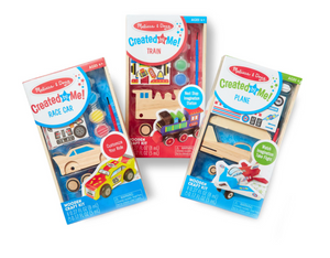 Melissa & Doug Decorate-Your-Own Craft Bundle (Plane, Train, & Race Car)