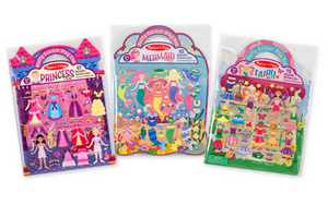 Melissa & Doug Puffy Sticker Bundle - Princess, Mermaid & Fairy