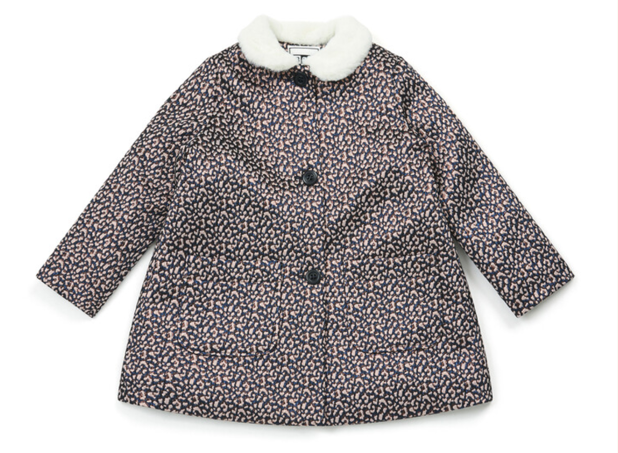 Bonton Manteau Leopard Rose Jacket
