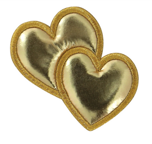 Stoney Clover Lane Gold Puffy Heart Patch