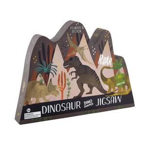 Floss & Rock Dino 80pc Jigsaw with Shaped Box