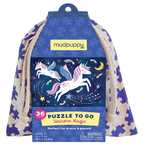 Mudpuppy Unicorn Magic to Go Puzzle (36 Pieces)